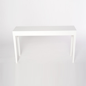 Short White Laquer Console Table Swift Company