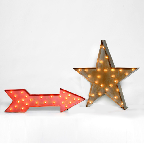 Lighted Carousel Arrow + Star - Swift + Company
