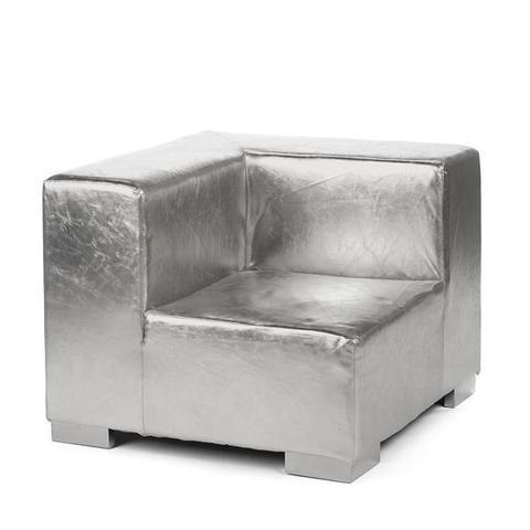 Mondrian Corner in Silver