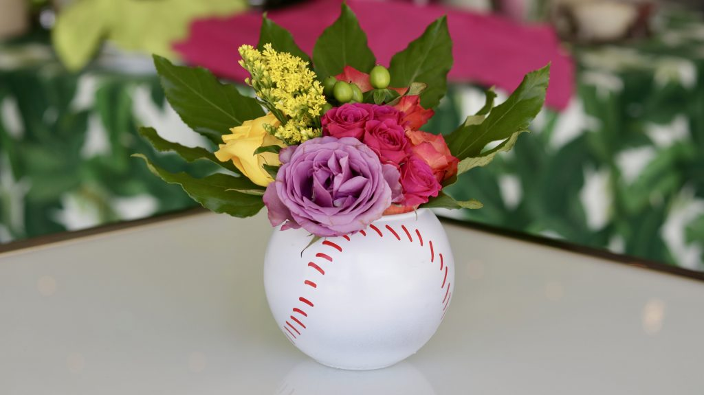 Swift + Company Flowers - Tabletop Arrangement - Baseball Theme