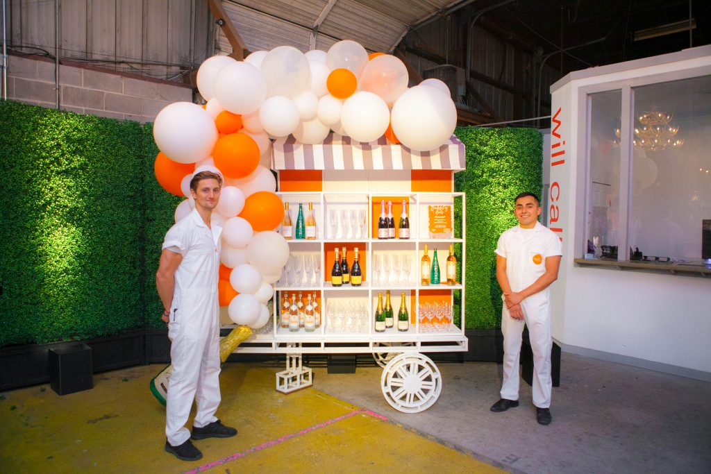 Swift + Company Rentals - Champagne Cart Rental - Big Ass Balloons