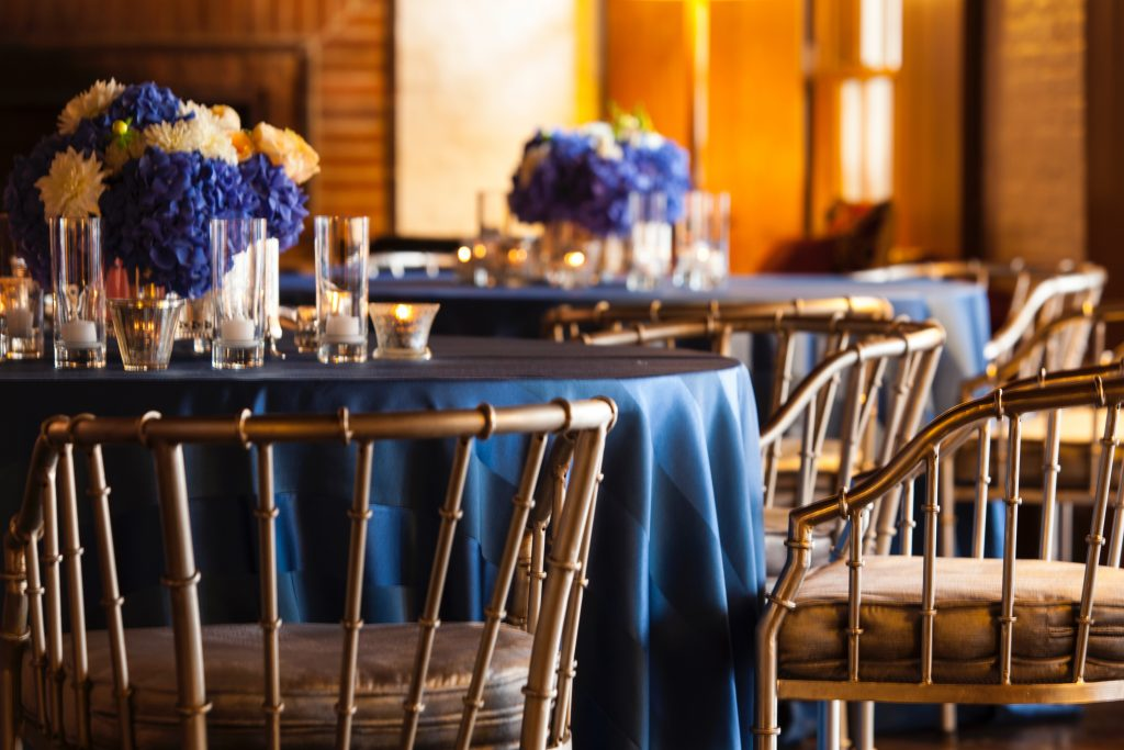 Swift + Company - Houston Event Linens - Classic Blue Linens