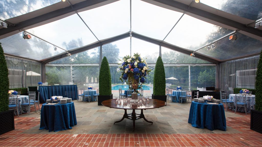 Swift + Company Flowers - Houston Event Florist -  Pantone Color of the Year - Classic Blue Event Design