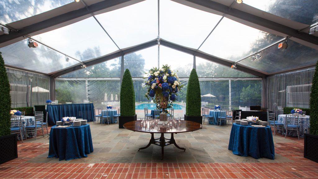 Swift + Company Flowers - Houston Event Florist - Classic Blue Event Design