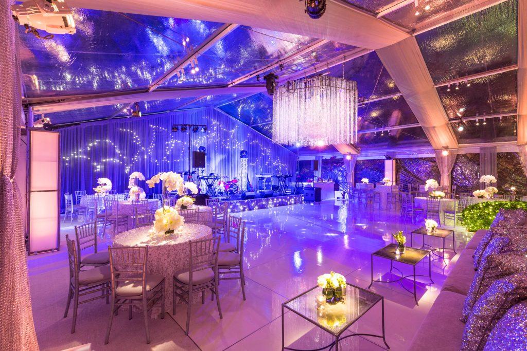 Swift + Company - Houston Full-Service Event Planning - Classic Blue Lighting