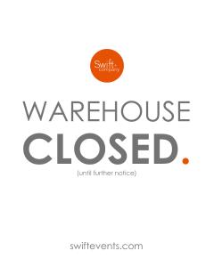 Swift + Company - Houston Event Rentals - COVID-19 Response