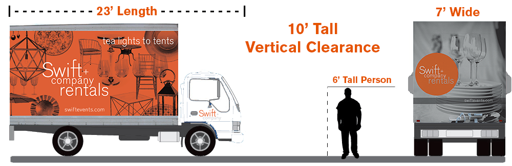 Swift + Company - Houston Event Rentals - 23' Delivery Truck