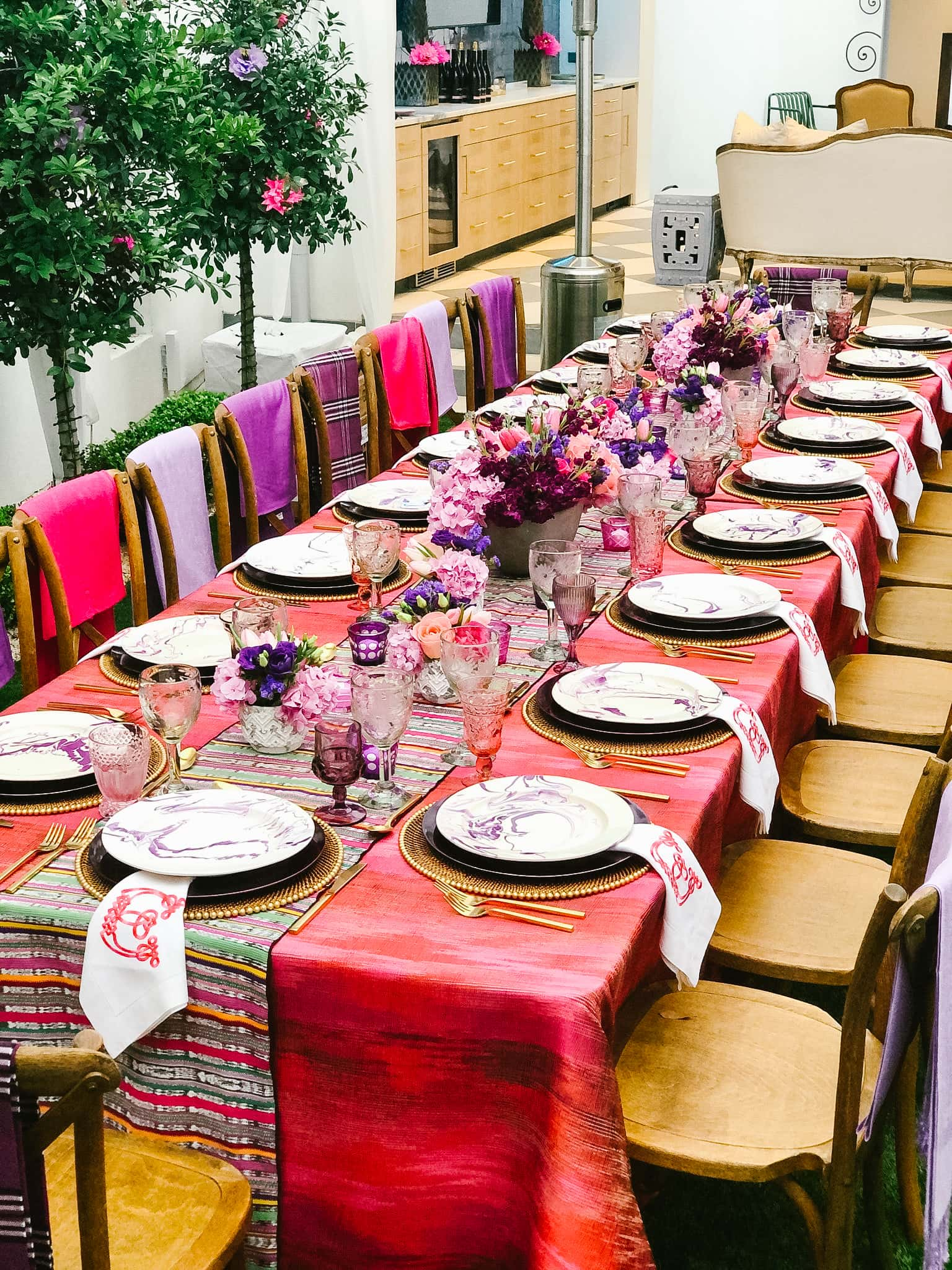Swift + Company - Houston Event Rentals - Dinner Party at Home - Table Setting